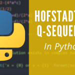 Hofstadter Q-Sequence in Python